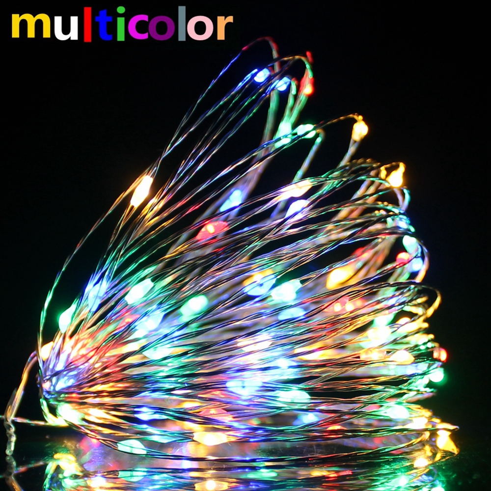 LED String Copper Wire Fairy Lights New Year Christmas Tree Party Garland Home Wedding Window Decoration Battery USB Powered Pakistan