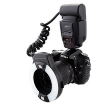 Meike MK 14EXTN Makro TTL Halka Flaş Nikon i ttl LED AF asist lamba D7100 D7000 D5100 D5000 d750 D800 D600 D5300 D90