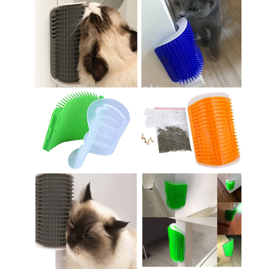 Cat Self Groomer Grooming Tool Cat Rub Face Tickle Massage Comb Cat Massage Device Catnip Pet Hair Shedding Trimming