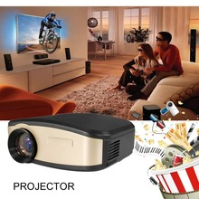 Home Projector Mini Miniature Portable 1080P HD Projection Mini LED Projector For Home Theater Entertainment AU-Black & Gold