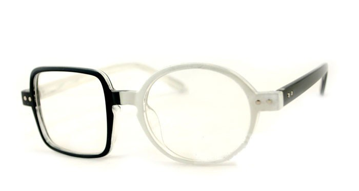 3ad1023eb4 Personalized ODD Unique Round Square Lens Glasses Classic Fashion Stylish  New on Aliexpress.com