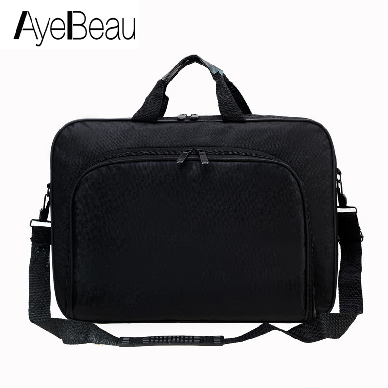 Portable Work Hand Business Office Male Messenger Bag Men Briefcase For Document Laptop Computer Handbag Shoulder 15.6 Tablet PC