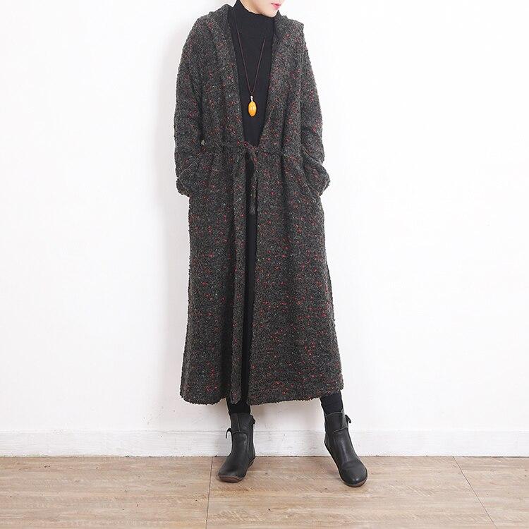 Automne Longues Manteau Taille Noir La Oversize Long Manches Pardessus Hiver Outwear Laine 2018 Tranchée Européenne Plus Femelle As À Photo En Femmes WPBSypHqx