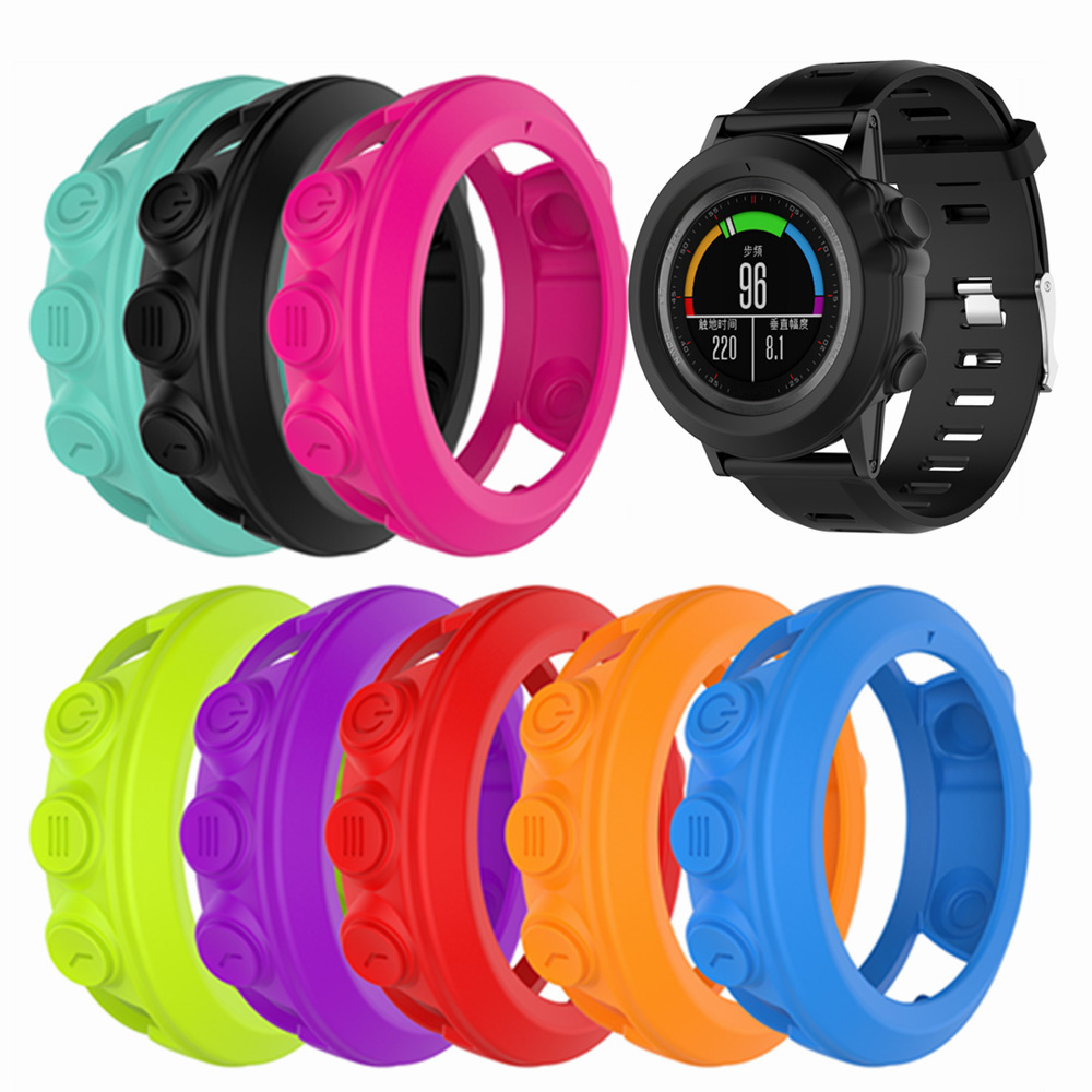 Silicone Protective Case Cover For Garmin Watch Soft Protective Shell For Garmin fenix 3 HRQuatix 3Tactix Bravo Smart Watch
