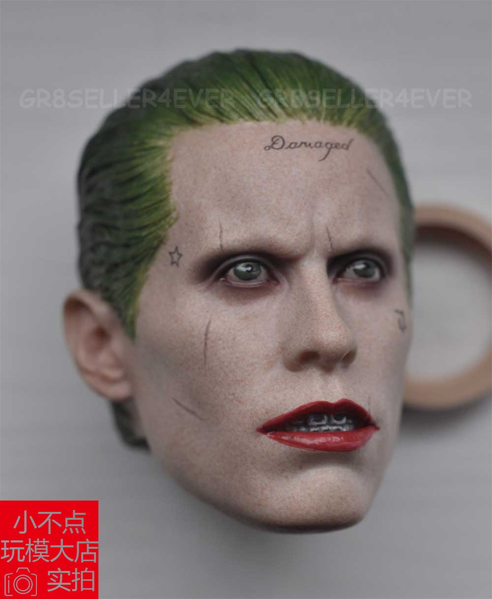 022d79a87d0 Custom Jared Leto Joker 1 6 Head Sculpt for Hot Toys Arkham Asylum Suicide  Squad-in Action   Toy Figures from Toys   Hobbies on Aliexpress.com