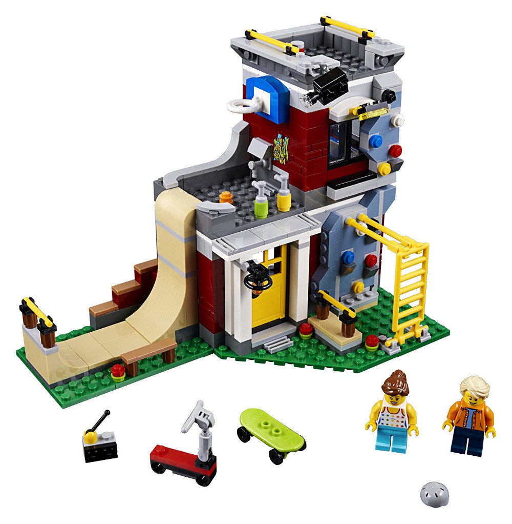 LEPIN City Creator 3in1 Modular Skate House Building Blocks Bricks Kids City Classic Model Toys Technic Compatible Legoings decool city technic grand prix racer 2 in 1 building blocks sets bricks kids model kids toys marvel compatible legoings