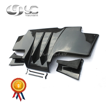 Carbon Fiber Diffuser Fit For 1995-1998 Skyline R33 GTR Top-Secret Type2  Style Rear Diffuser 5 Pcs Metal Fitting Accessories