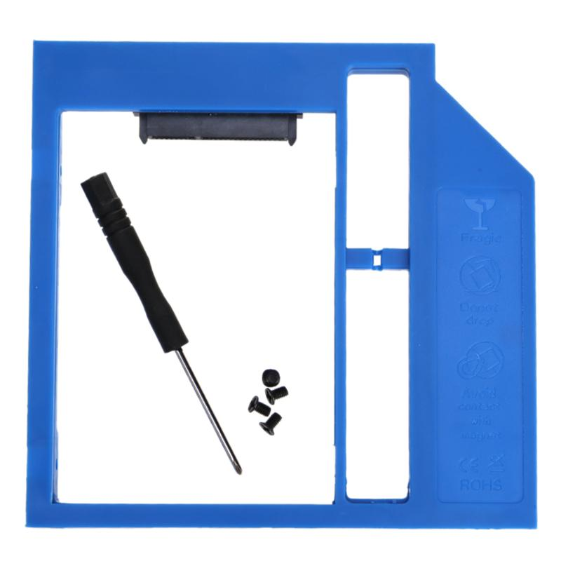Universal Plastic SATA 3.0 9.0mm 2nd HDD Caddy SSD Drive Bracket For 2.5inch 7/9mm SSD Box Case Enclosure Adapter