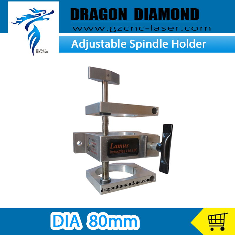 New Adjustable Spindle Holder Suit for 1.5/2.2kw Spindle Dia 80mm Spindle Motor adjustable three spindle drill heads spindle center distance 32 to 100mm multiple spindle drilling heads multi spindle heads
