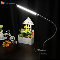LumiParty 5W Led Reading Eye Protection Desk Lamp Nigh Light With Clip
