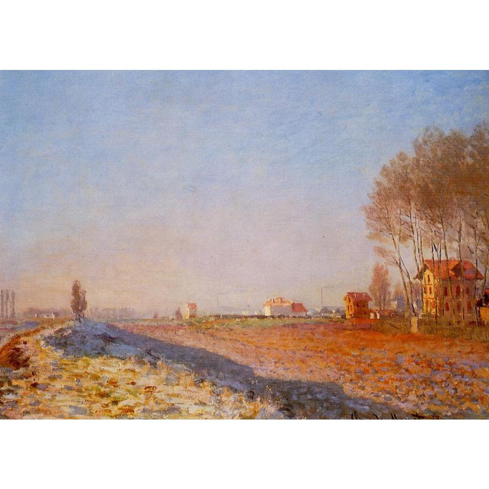 The Plain of Colombes, White Frost by Claude Monet Oil paintings reproduction Landscapes art hand-painted home decorThe Plain of Colombes, White Frost by Claude Monet Oil paintings reproduction Landscapes art hand-painted home decor