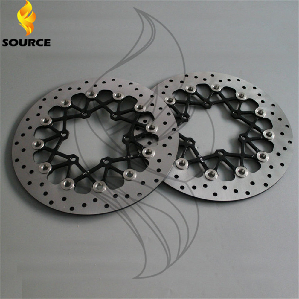 motorcycle Aluminum alloy  & Stainless steel Front Brake Disc Rotor For SUZUKI GSXR600 GSXR750 2008 2009 2010 2011 2012 2013 14