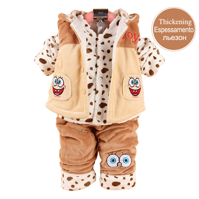 Baby Boy Clothing Set Imported Baby Clothes Newborn Set  Vest+Coat+Pants For 0-2 Year