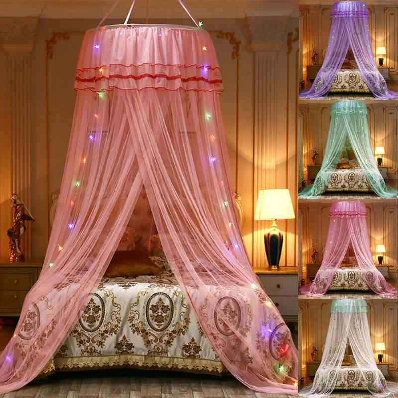 Romantic Round Mosquito Net For Princess Bedroom Kidr Room Decoration Polyester Large Size Mesh Hung Dome Mosquito Net Supplies