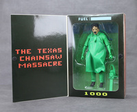 New Classic Horror Movie Texas Chainsaw Massacre Leatherface Green Special Version NECA 18cm Action Figure