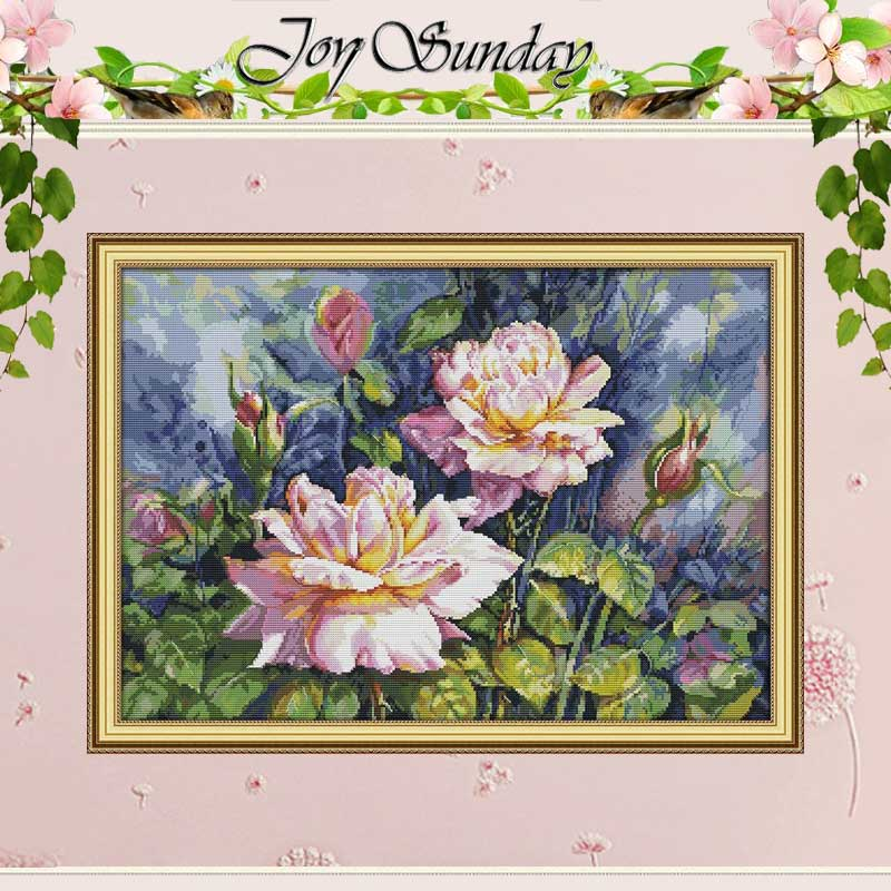 Vintage Rose Patterns Counted Cross Stitch 11CT 14CT Cross Stitch Set Wholesale DIY Cross-stitch Kit Embroidery Needlework