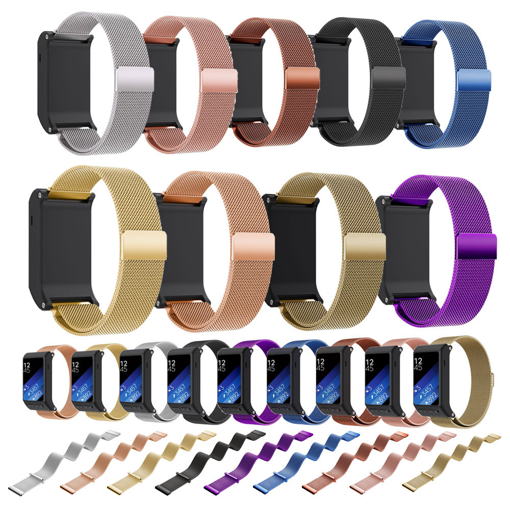 New Design! Watchbands 20mm Black High Quality Milanese Magnetic Loop Stainless Steel Band For Garmin vivoactive HR Wrist strap milanese watchband 20 22 24mm for garmin fenix 5s 5 epix vivoactive hr forerunner 935 fr935 sport watch band steel wrist strap