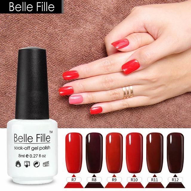 8ml Red Nail Polish Blood Brick Crimson C Cherry Cerise Carmine Wine Decorate Fingernails Nails Makeup