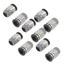 цена на 10Pcs 1/4 BSPT Male Thread To 8mm OD Tube Push In Joint Pneumatic Connector Quick Fittings