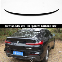 For BMW X4 G02 25i 30i 2018 2019 2020 Rear Wing Spoiler M Style Trunk Boot Wings Spoilers Carbon Fiber 3M Paste|Spoilers & Wings|Automobiles & Motorcycles -