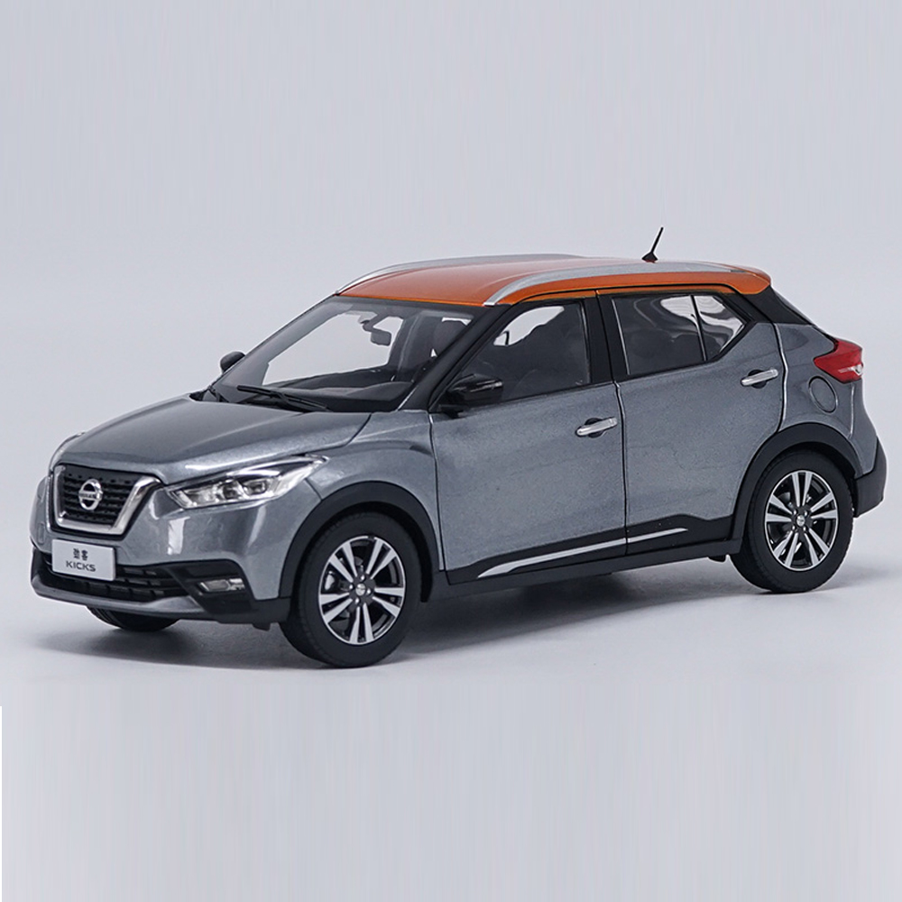 Scale 1:18 Car Model Toy Nissan Kicks 2017 Car Alloy Car Model For Kids Gifts & For Collection autoart 1 18 nissan alto skyline nismo s1 alloy model car href