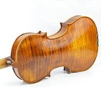 Handmade violin 4/4 3/4 Full Size Tiger Spruce Body Solid wood Handmade Adult children beginners practice professional violino