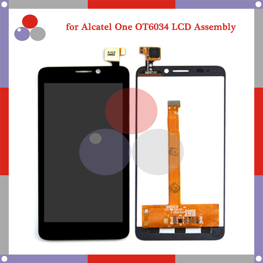For Alcatel One Touch Idol S 6034 OT6034 6034R 6034Y 6034M LCD Screen Display + Touch Screen Digitizer Assembly