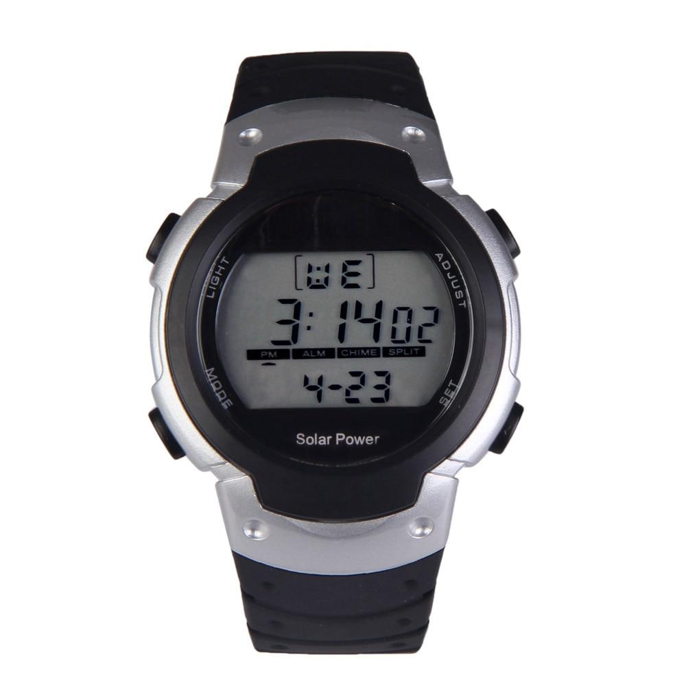 Fashion Solar Watch with Backlight Casual Sport Watches Men Digital Watch Solar Powered Watch reloj solar power цена и фото