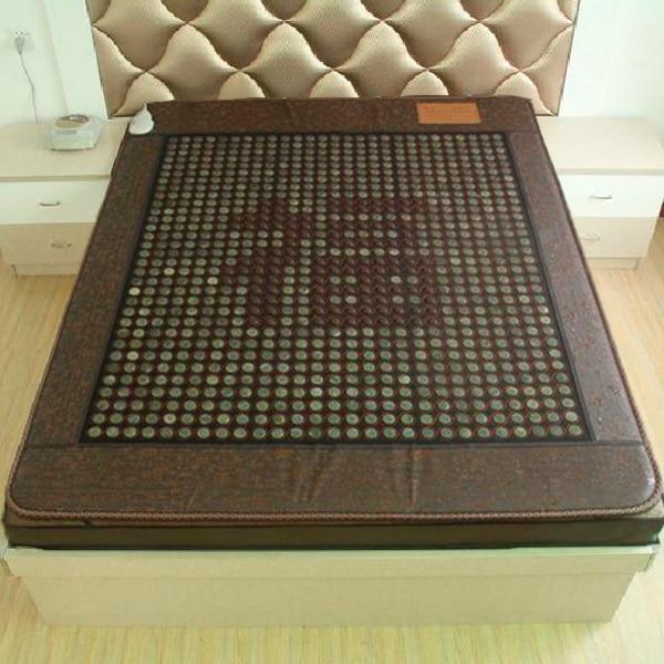 Infrared Heated Negative Ion Massage mattress 2016 Korea Jade Mattress Heating Massage Korea Tourmaline Mattress 1.2*1.9M free shipping tourmaline korea health jade mattress negative ion jade heated mattress for sale 1 2x1 9m