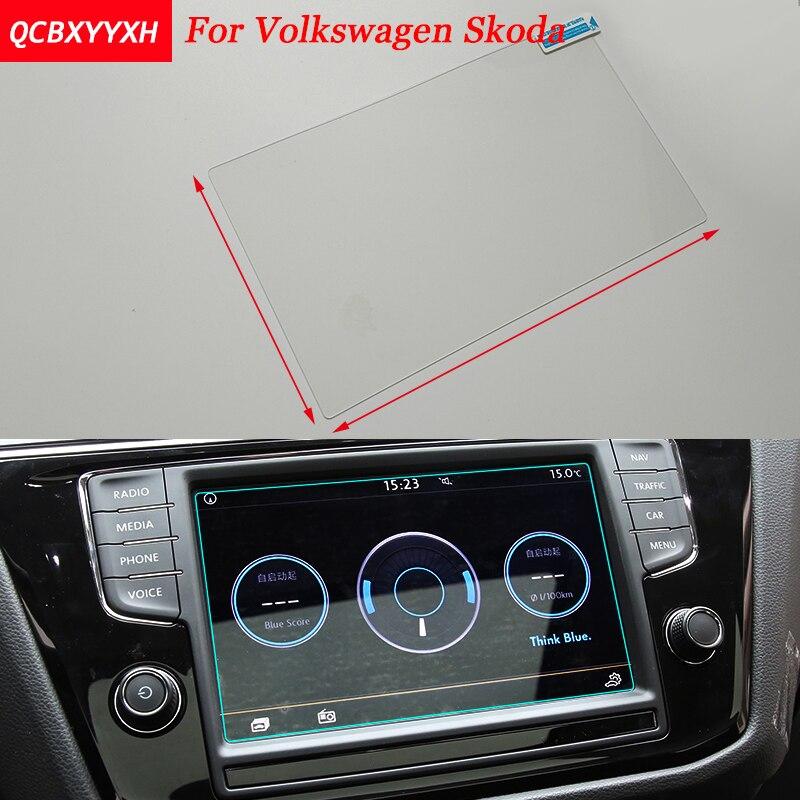 все цены на Car Styling GPS Navigation Screen Steel Protective Film For VW Golf Polo Touran Tiguan L Touareg CC Skoda Octavia Superb Yeti онлайн