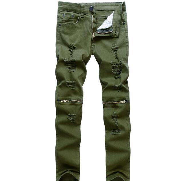 Ganzkörperansicht Frühling Stile Männer Jeans Auf Heiße Verkäufe Rabatt Männlichen Hosen