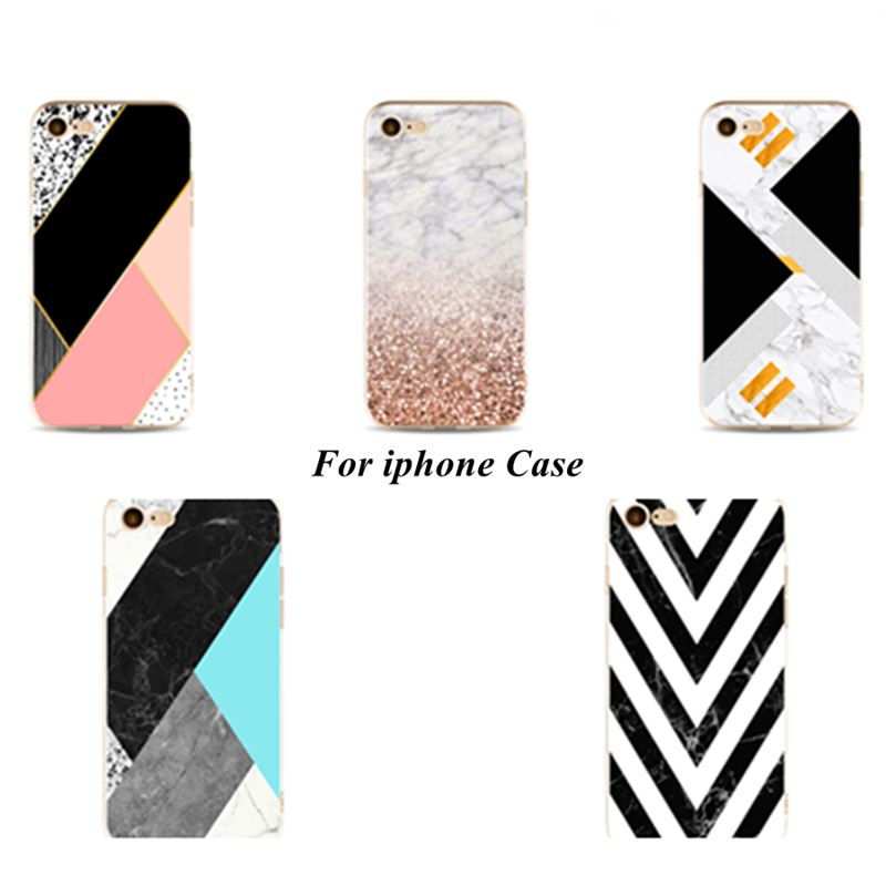 Perciron Case For iphone 5s 5C SE 6 6s 7 8 plus X Granite Stone image Painted Silicone Phone DIY case