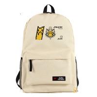 Pocket Monster Cartoon Backpack Pokemon Anime Cosplay Shoulders Bag Funny Pikachu Print Students Rucksack Schoolbags