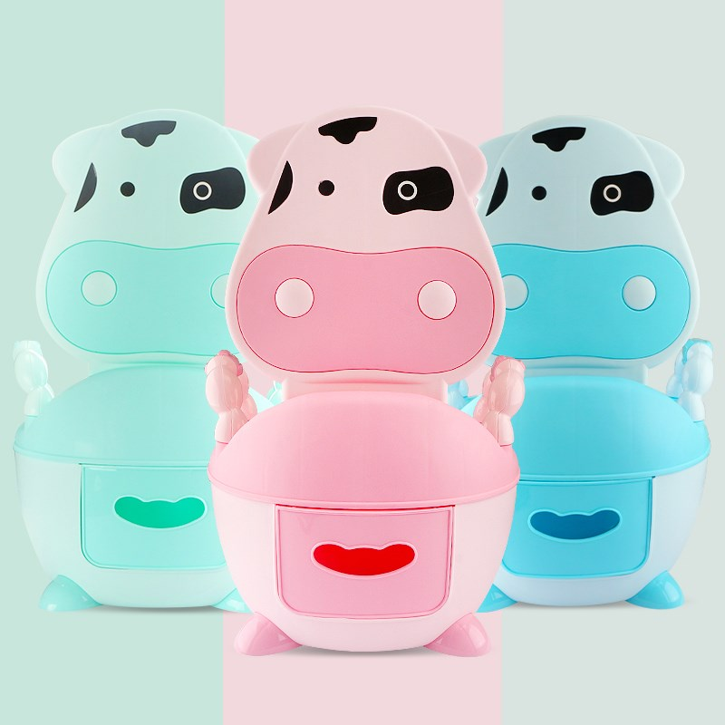 Lovely Cow Baby Toilet,cheap Kids Potty,plastic New Baby Product