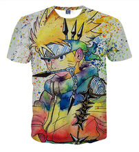 Summer Men Shirts Short Sleeve Cotton O-Neck Cartoon Tshirt 3D Water Printed T Shirt Man T-Shirt Clothes Camisetas DDT15