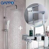 GAPPO Смесители для ванны кран Набор Бронзовый квадратный, для ванны смеситель для душа ванна душ кран душевая головка настенный смеситель кр