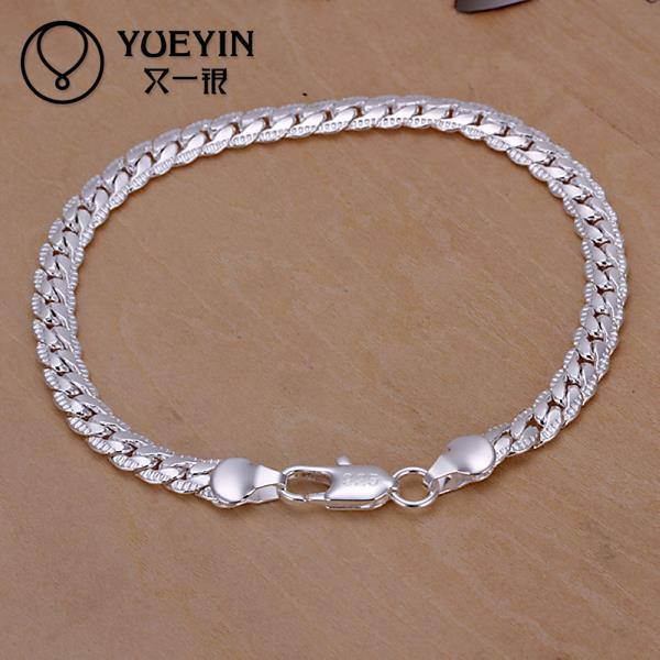 Us 0 83 50 Off Free Shipping Latest Women Classy Design Snake Chain Bracelet Fit Silver Bracelet Bangle Chain Charm Beads 20cm In Chain Link