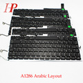 Original A1286 Arabic Keyboard For Apple Macbook Pro 15'' Arabic Keyboard With Backlight Replacement 2009-2012