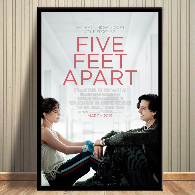 2019 Movie Five Feet Apart Poster Canvas Painting Print