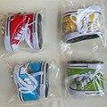 6 par Orden de La Mezcla 1/4 Bjd Msd Sd Luts Dollfie Muñeca de Algodón Zapatos de lona Dulces de Colores Variados Deportes Sneaker Llavero Regalos 7.5 cm K