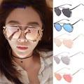 Women Sunglasses Tray VOT7 vestitiy Twin-Beams Geometry Design Women Metal Frame Mirror Sunglasses Cat Eye Glasses J 16