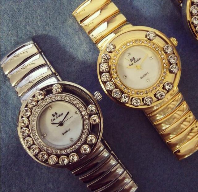 Luxury Elegant Women Watches Fashion Women Steel Diamond Table Dress Watch Lady's Wristwatch rhinestone watches 2017