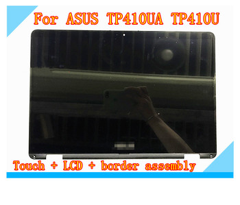 For ASUS VivoBook flip 14 TP410UA TP410U 14 inch LCD monitor LCD touch screen assembly + with frame NV140FHM-N62 V8.0