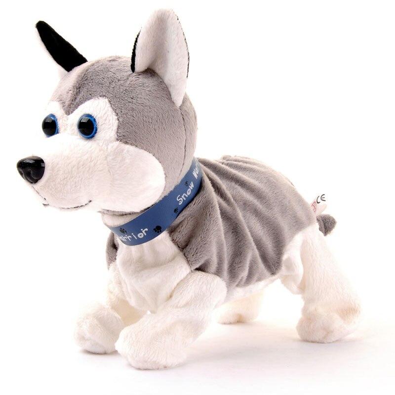 Contrôle du son électronique chiens belle mignon interactif animaux Robot chien aboiement Stand marche électronique jouets cadeau pour enfants enfants bébé