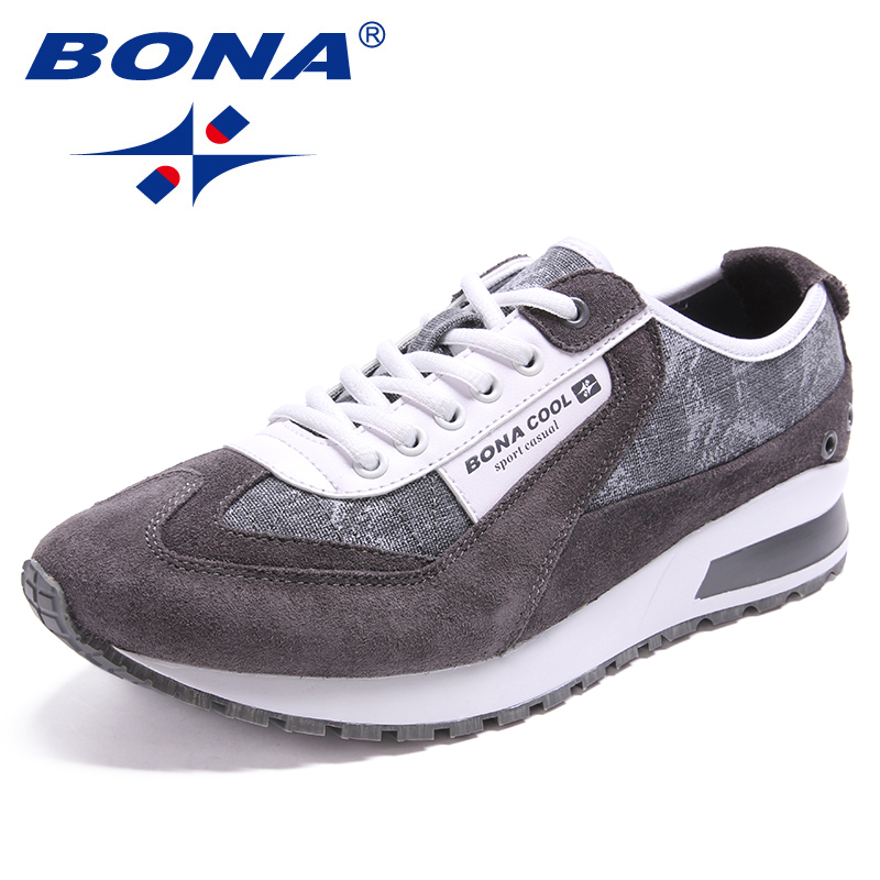 BONA New Arrival Classics Style Men Running Shoes Outdoor Jogging Sneakers Lace Up Sport Shoes Comfortable Athletic Shoes Men 2017brand sport mesh men running shoes athletic sneakers air breath increased within zapatillas deportivas trainers couple shoes