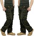 Мужская Combat multi-карманы Утилита Случайные Свободные Длинные брюки Полная Длина Грузовая Работа Брюки Камуфляж Брюки Мужчины