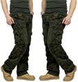 Hombres pantalones de Combate Multi bolsillos Utilitarios Casual Larga Floja Encuadre de cuerpo entero Pantalones de Carga de Trabajo Pantalones de Camuflaje Pantalones de Los Hombres