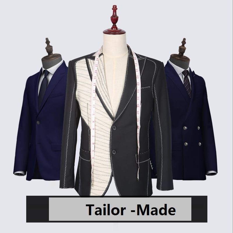 2018 Nouvelle Marque Hommes de costumes Sur Mesure Costume Blazer costumes Laine Rétro gentleman style custom madefor hommes 2 pièce (veste + Pantalon)