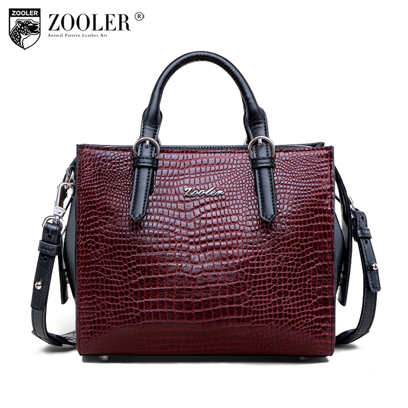 New and big sale ZOOLER BRAND Genuine Leather bag casual Handbags Shoulder bags stylish cowhide women bag luxury brand #C158 new product sales zooler brand zipper cowhide bag top handle shoulder bag simply solid genuine leather bag women bag bolsas c108