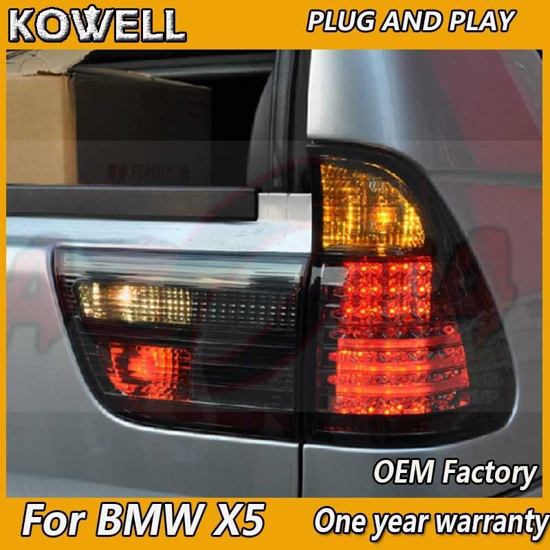 Feu arrière style voiture KOWELL pour BMW E53 X5Tail Lights 2007-2013 pour E53 feu arrière DRL + clignotant + frein + marche arrière